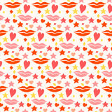 Love seamless pattern background. Valentine's day and wedding th Stock Photos