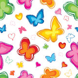 Love seamless pattern with butterfly. Royalty Free Stock Photography