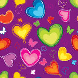 Love seamless pattern with butterfly. Royalty Free Stock Images