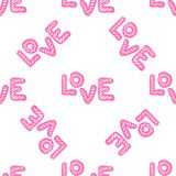 Love seamless pattern. Happy Valentines Day greeting card. stock photo