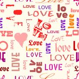 Love seamless pattern Royalty Free Stock Photo
