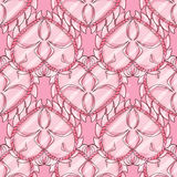 Love seamless pattern with pink hearts Stock Photo