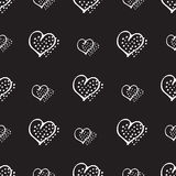 Love seamless pattern romantic doodle hearts Stock Photography