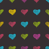 Love seamless pattern romantic doodle hearts Royalty Free Stock Images