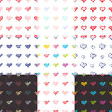 Love seamless pattern romantic doodle hearts Royalty Free Stock Photo