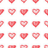 Love seamless pattern romantic doodle hearts Royalty Free Stock Photography