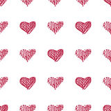Love seamless pattern romantic doodle hearts Royalty Free Stock Photos