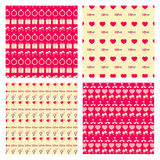 Love Seamless pattern set Stock Photography
