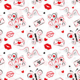 LOVE SEAMLESS PATTERN FOR ST. VALENTINE`S DAY Royalty Free Stock Photos