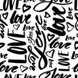 LOVE - seamless pattern Royalty Free Stock Image