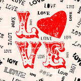 Love seamless pattern, vector Royalty Free Stock Photos