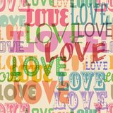 Love seamless pattern, Royalty Free Stock Photography