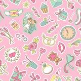 Love seamless pattern Stock Photos