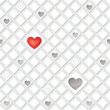 Love seamless tiled pattern with hearts. Royalty Free Stock Images