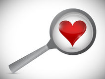Love search concept illustration design Stock Photography