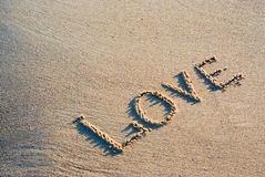 Love on send Royalty Free Stock Images