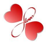 Love5 senza fine Fotografie Stock Libere da Diritti