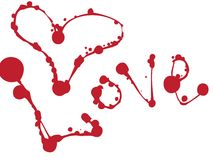 Love. Set Of Blots And Stains. Royalty Free Stock Image