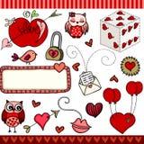 Love set digital elements Stock Photos