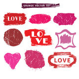 Love set.Distressed Stamps.Grunge badges,label Stock Photography