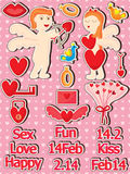 Love Set_eps Stock Images