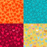 Love. set of four heart background royalty free illustration