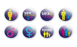 Love and Sex Buttons 3 Stock Photos