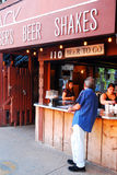 Love Shack Ft Worth. Customer Ordering at one of Several Restuarants in the Ft Worth Stockyards stock photography