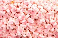Love shape candy. Pink color love shape candy Royalty Free Stock Photography