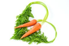 Love Shape Carrot Royalty Free Stock Photos