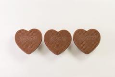 Love shape chocolate Royalty Free Stock Photography