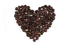 Love Shape Coffee Bean Royalty Free Stock Photo