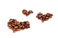 Love shape coffee seed Royalty Free Stock Photos