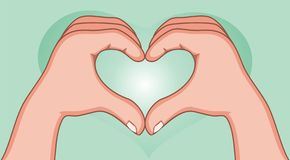 Love shape hand Stock Image