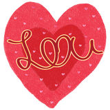 Love shape love calligraphy Royalty Free Stock Photo