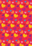 Love shape pattern Royalty Free Stock Photography