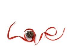 Love shape ribbon art Royalty Free Stock Photography