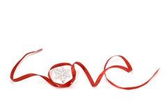 Love shape ribbon art Royalty Free Stock Photos
