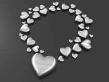 Love shape silver metal fashion accessories Royalty Free Stock Photography