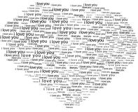 Love shape in typography Royalty Free Stock Images