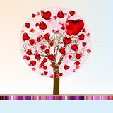 Love shape valentine's card. EPS 8 Royalty Free Stock Photo