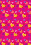 Love shape wallpaper Royalty Free Stock Images