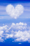Love shaped clouds Royalty Free Stock Photos