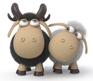 Love of a sheep and ram Royalty Free Stock Photo