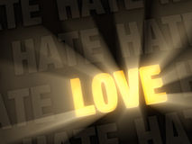 Love Shines Past Hate Royalty Free Stock Photo