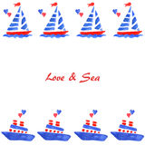 Love and ship Royalty Free Stock Images