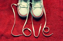 Love shoes Royalty Free Stock Photography