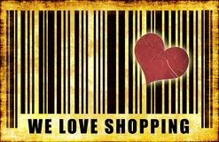 We Love Shopping stock illustration