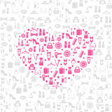Love shopping seamless vector background Royalty Free Stock Photos