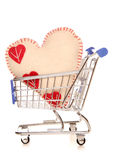 Love shopping. Studio cut out Royalty Free Stock Photography